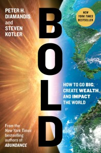Cover picture of 'Bold', book authored by Peter Diamandis, on business digitization