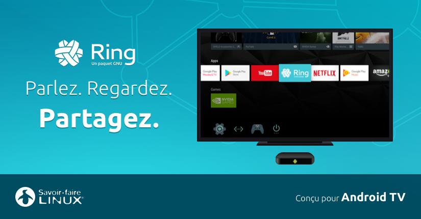 Le logiciel de communication Ring fait son apparition sur Android TV