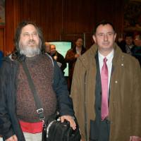 Richard Stallman et Cyrille Béraud au S2LQ 2010