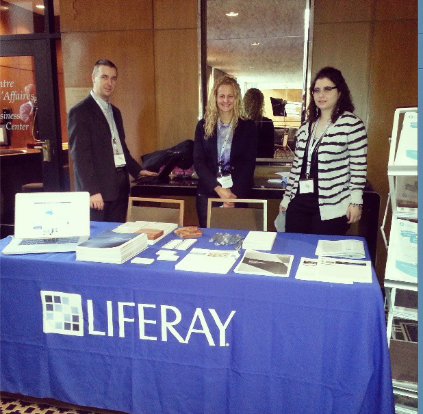 Photo of the Liferay/SFL booth at INTRACOM
