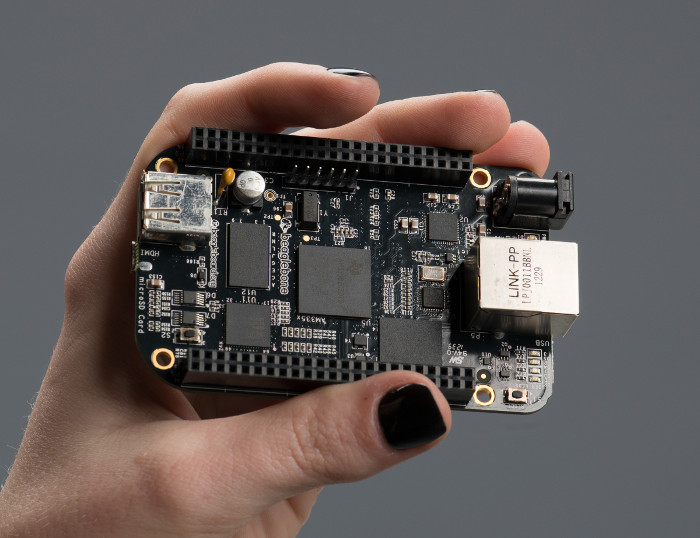 Photo de la carte BeagleBone Black (BBB)