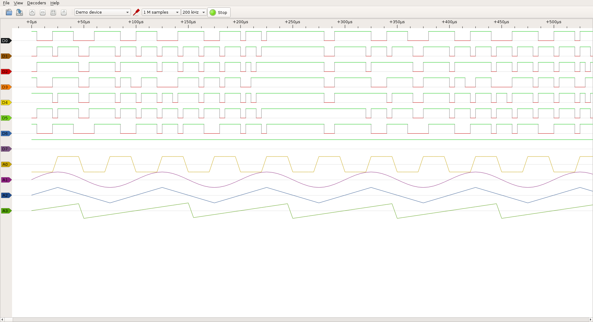 logic analyzer  visualizing latency between two digital signals in real time with sigrok and