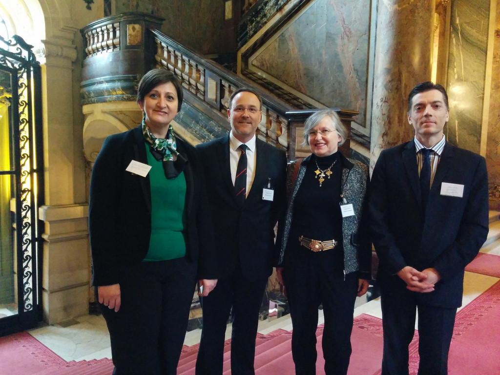 L'équipe de l'Université Paris-Dauphine avec Christophe Villemer