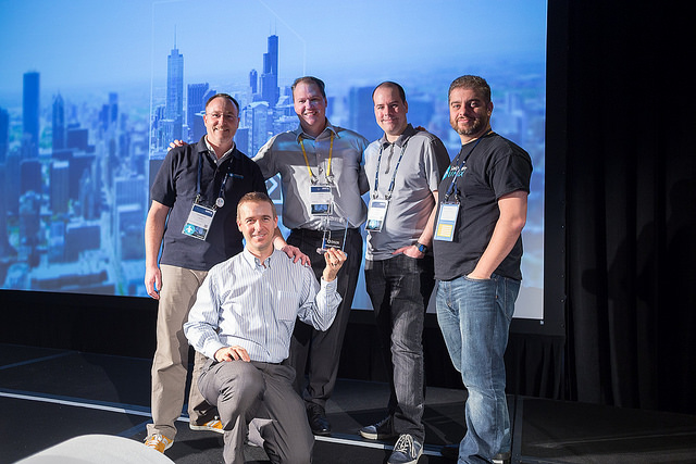 Our Team Receiving the Liferay Community Award 2015 in Chicago